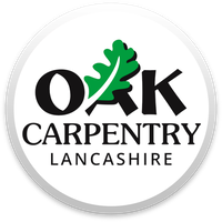 Oak Carpentry Lancashire, English Oak Timber Framed Buildings, modern construction, traditional, refurbishments, bespoke joinery, interior fittings, project management, main contractor Logo