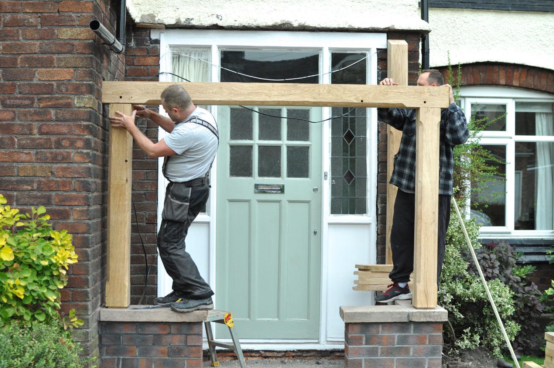 Porch Oak Frame Reclaimed Roof Tiles House Renovation