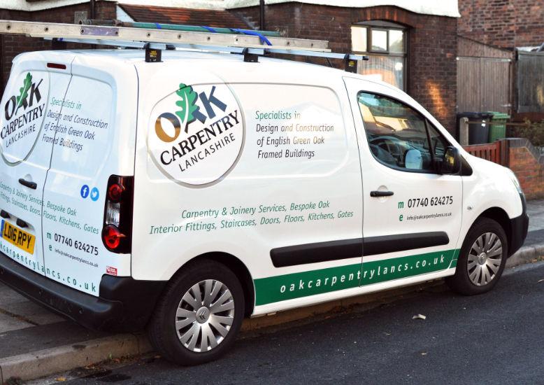 Oak Carpentry Lancashire Van, site visit, consultation, quotation