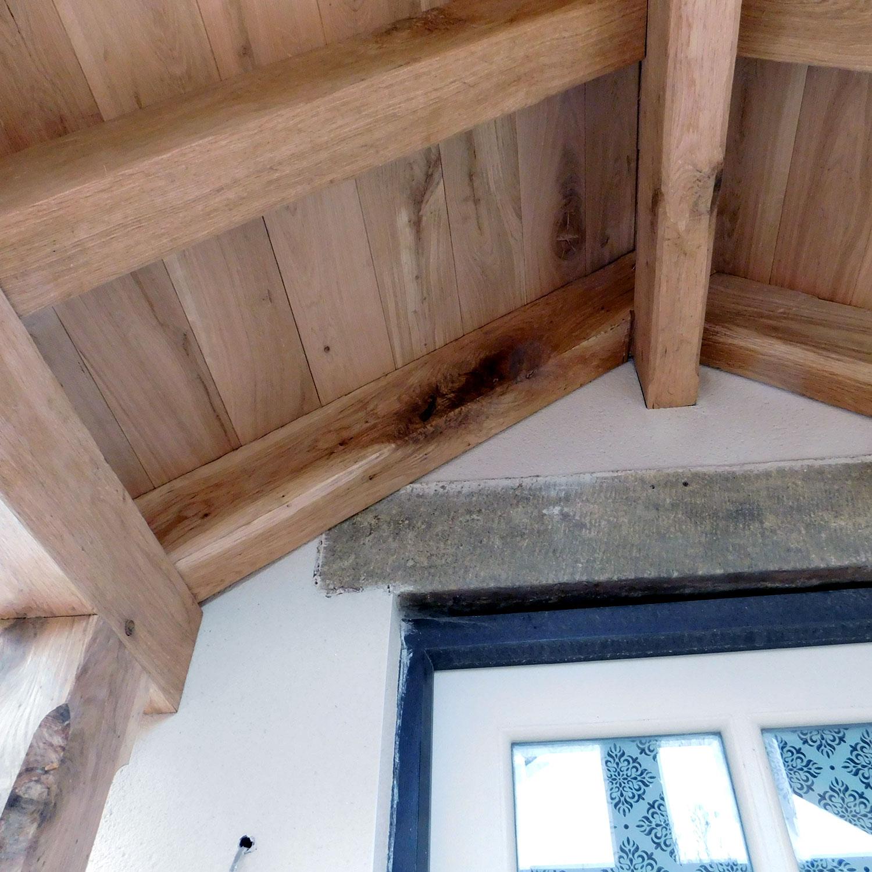 Porch Roof Oak Carpentry Lancashire English Oak Timber