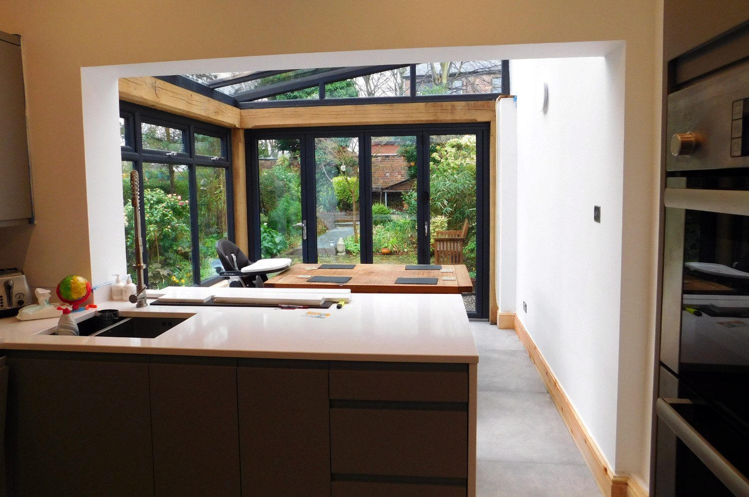 Kitchen Extension Oak Frame Construction Modern Style