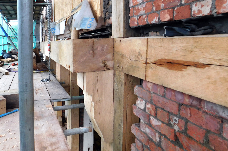 The Racecourse Hotel, Pub, Salford, full restoration of oak, building exterior woodwork