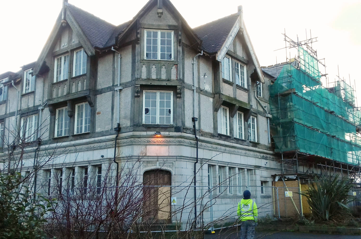 The Racecourse Hotel, Pub, Salford, full restoration continues in 2018