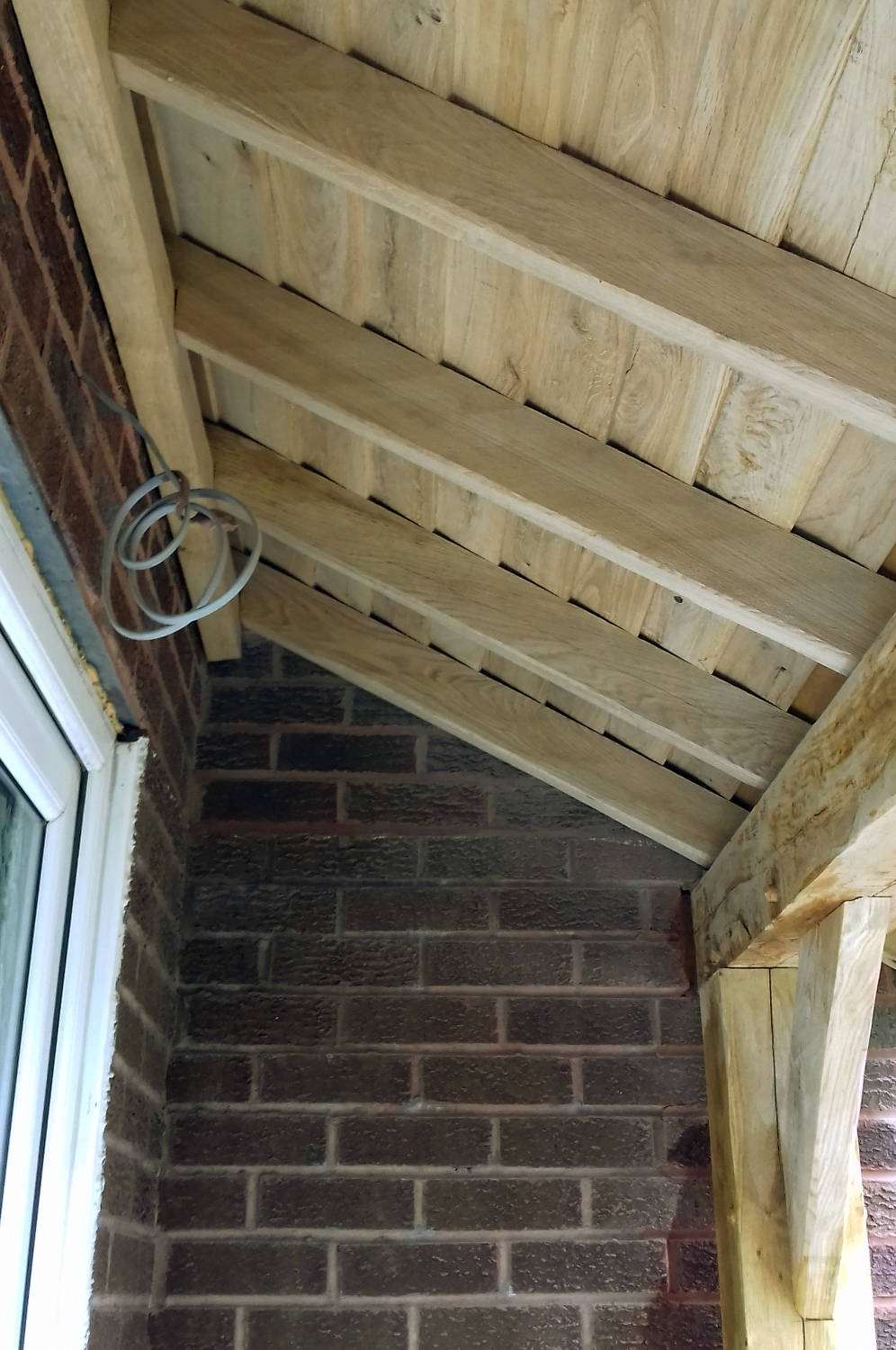 Porch Oak Frame Construction Tiled Roof Reclaimed Tiles Guttering Home