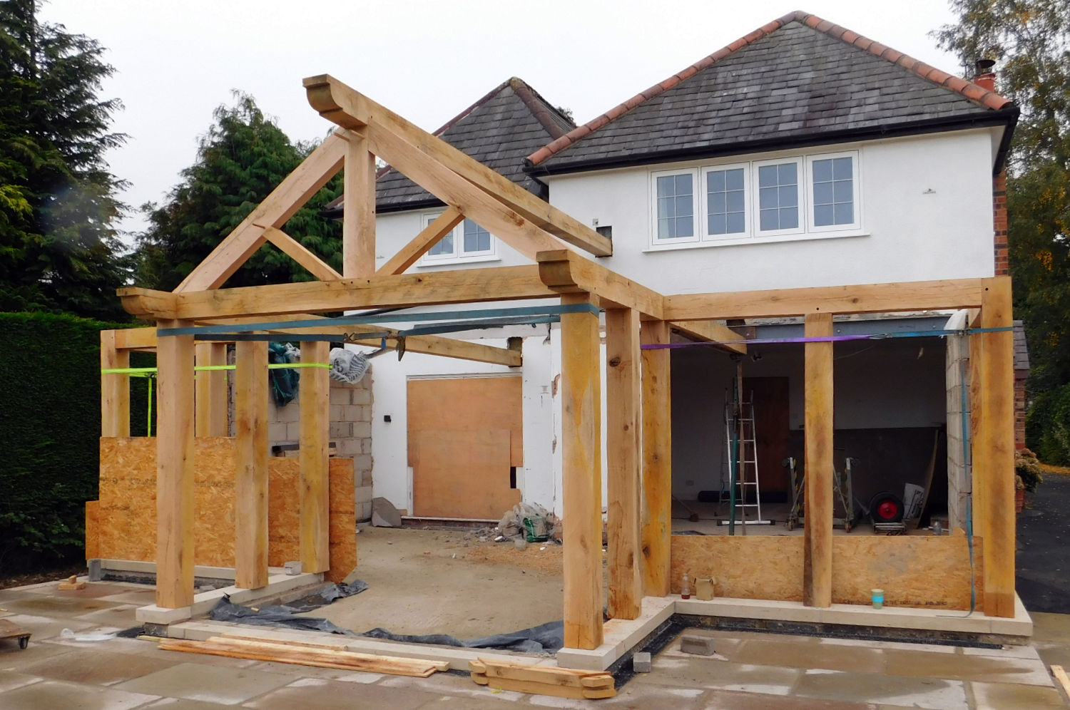 Summer Room House Extension Bi Fold Doors Oak Frame