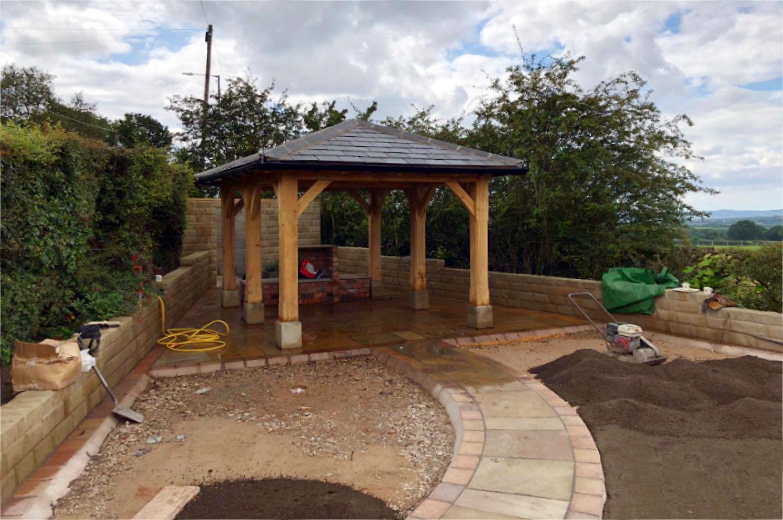 gazebo, garden room, artisan, oak framed, hipped roof, blackrod, lancs