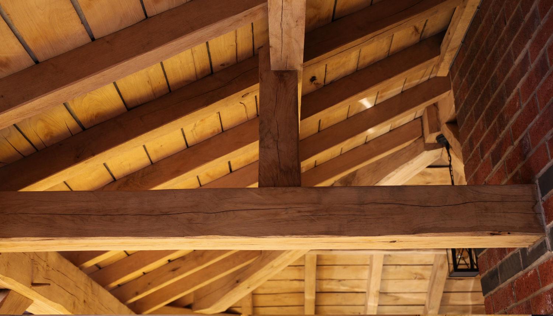 carport, oak framed, roof construction detail, Darwen, Lancs, 2020