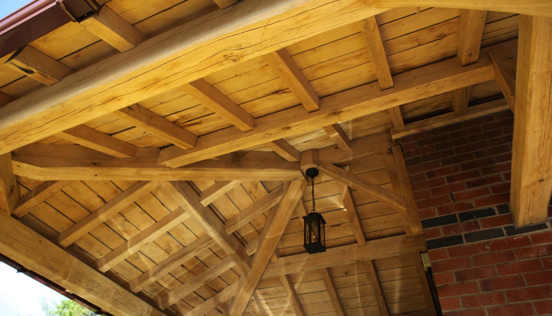 carport, oak framed, roof construction, lighting, Darwen, Lancs, 2020
