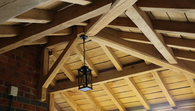 carport, oak framed, roof, lighting, Darwen, Lancs, 2020
